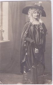 Anna in costume for a ball, 1920s