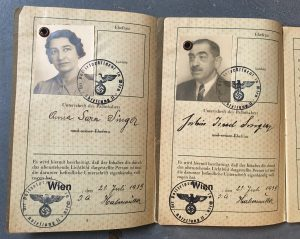 The Third Reich passports with the American visas that saved their lives