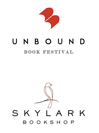 Unbound Book Festival and Skylark Bookshop logos