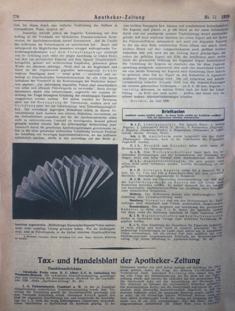 An ad for paper fans made by Adolf Eisenmann & Sohn