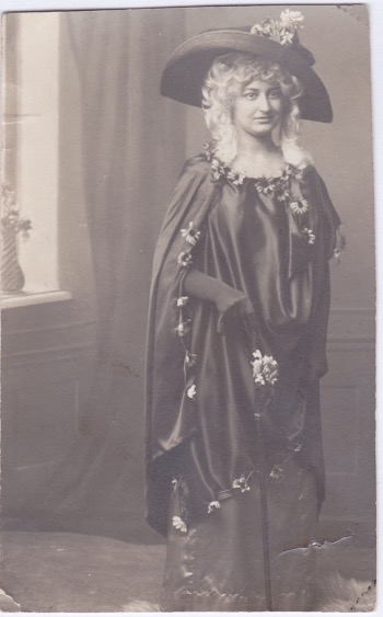Julie Metz's grandmother Anna dressed for a costume ball in Vienna