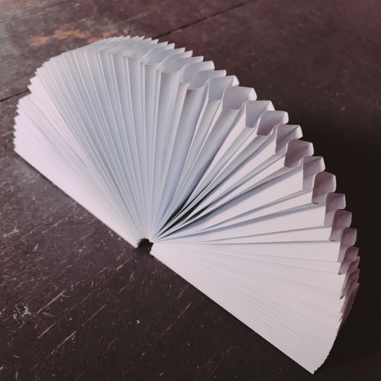 Paper fan for filling with powdered medicines pulverkapseln