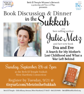 Book Discussion and Dinner in the Sukkah