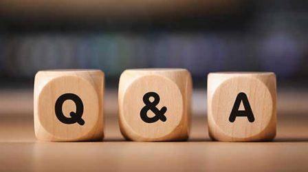 three dice - Q, &, A